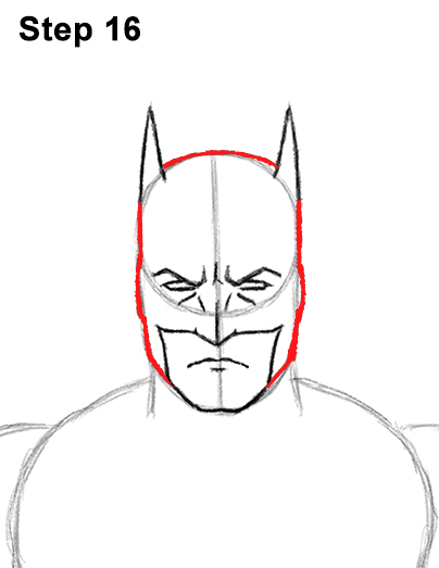 Draw Batman Full Body 16