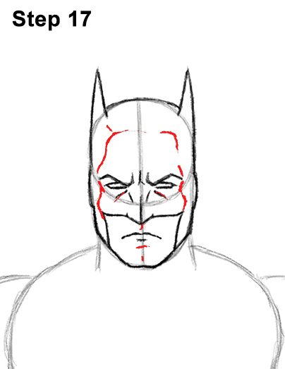 Draw Batman Full Body 17