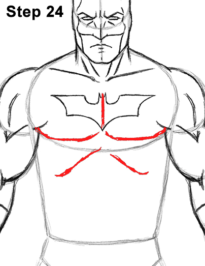 Draw Batman Full Body 24