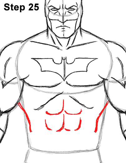 Draw Batman Full Body 25