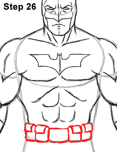 Draw Batman Full Body 26