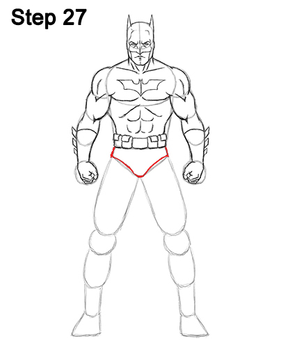 Draw Batman Full Body 27