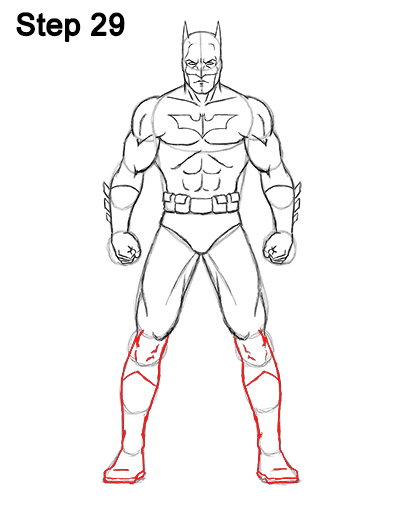 Draw Batman Full Body 29