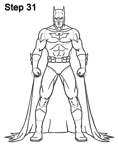 Draw Batman Full Body 31