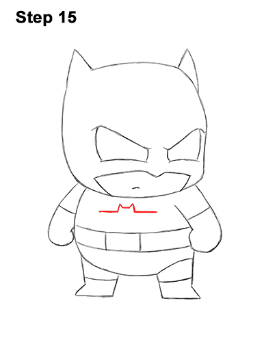 Draw Mini Chibi Little Batman 15