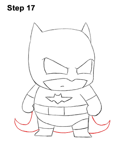 Draw Mini Chibi Little Batman 17