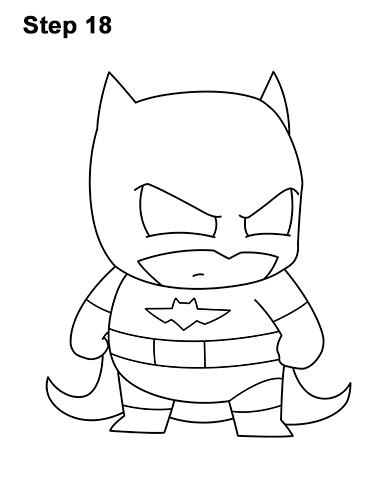 Draw Mini Chibi Little Batman 18