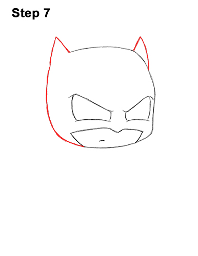 Draw Mini Chibi Little Batman 7