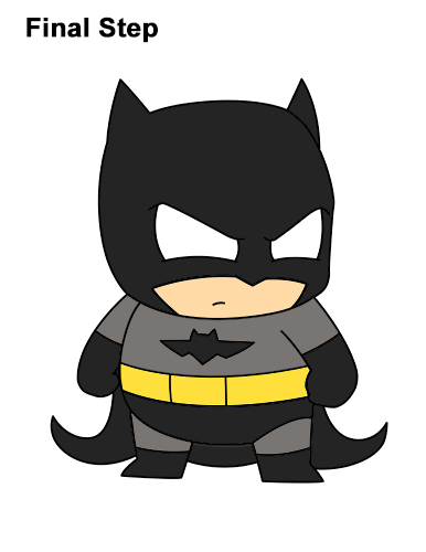 Draw Mini Chibi Little Batman