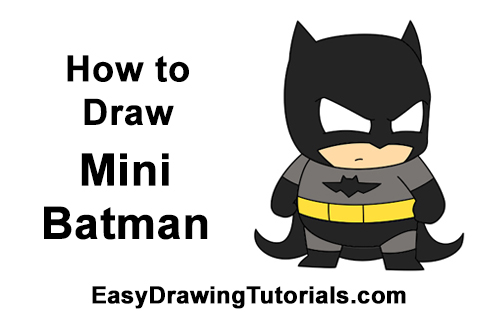 How to Draw Little Mini Chibi Batman