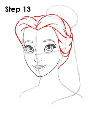 How to Draw Belle Step 13
