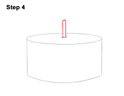 How to Draw Cartoon Birthday Cake Candle 4