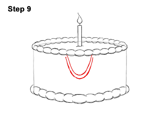 How to Draw Cartoon Birthday Cake Candle 9