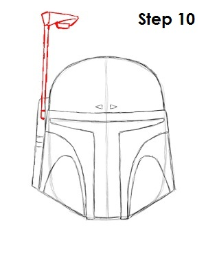 Draw Boba Fett Step 10