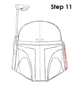 Draw Boba Fett Step 11