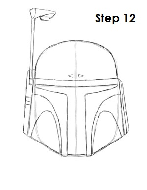 Draw Boba Fett Step 12