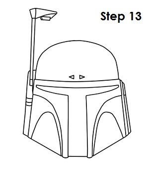 Draw Boba Fett Step 13