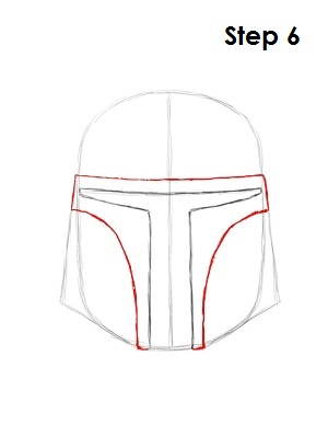 Draw Boba Fett Step 6