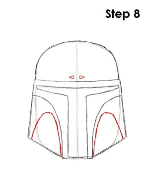 Draw Boba Fett Step 8