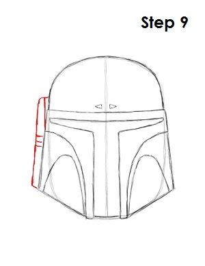 Draw Boba Fett Step 9