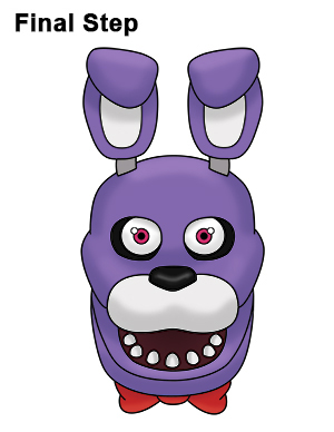 how to draw bonnie five nights at freddy's