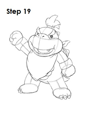 How to Draw Bowser Jr. Step 19