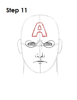 Draw Captain America Step 11