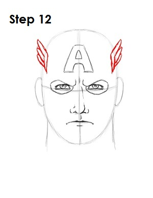 Draw Captain America Step 12