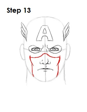Draw Captain America Step 13
