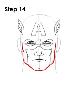 Draw Captain America Step 14