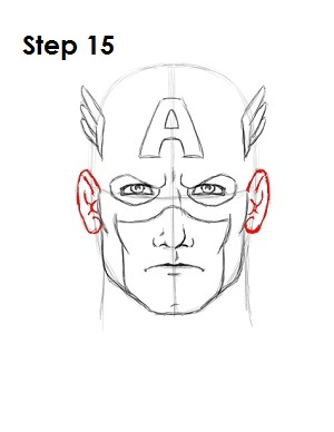 Draw Captain America Step 15