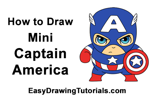 How to Draw Little Mini Chibi Captain America