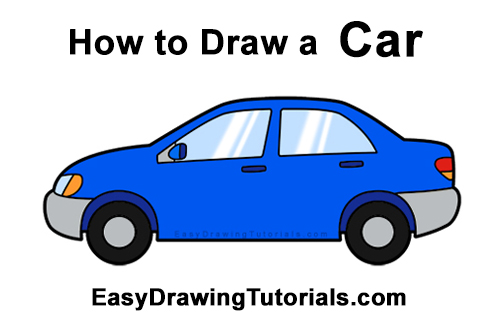 How to Draw Cartoon Car Automobile Vehicle Clipart