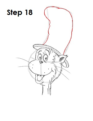 Draw Cat in the Hat 18