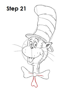 Draw Cat in the Hat 21