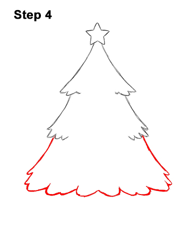 Easy To Draw Christmas Tree.How To Draw A Christmas Tree Video Step By Step Pictures