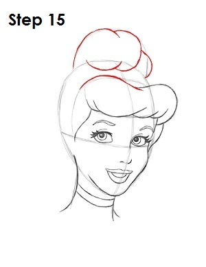 How to Draw Cinderella Step 15