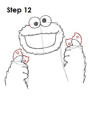 How to Draw Cookie Monster Step 12