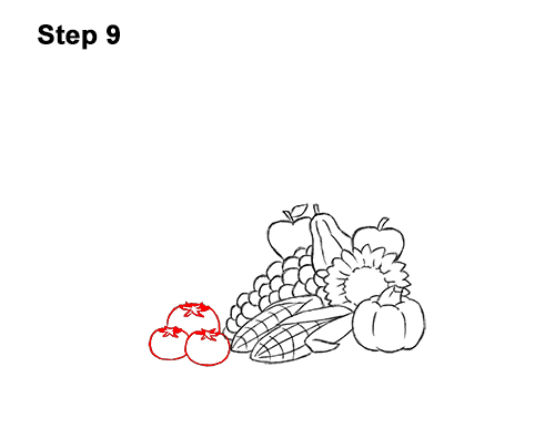 How to Draw Cartoon Cornucopia Thanksgiving 9