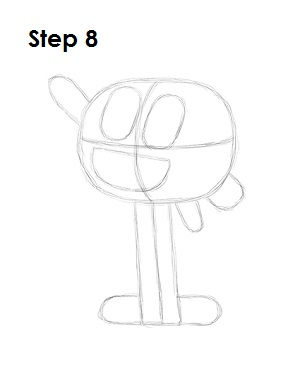 How to Draw Darwin Watterson Step 8