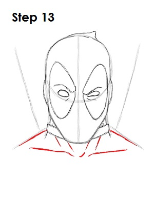 Draw Deadpool Marvel 13
