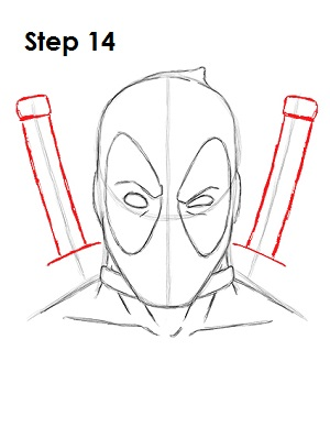 Draw Deadpool Marvel 14