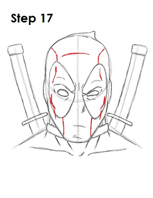 Draw Deadpool Marvel 17