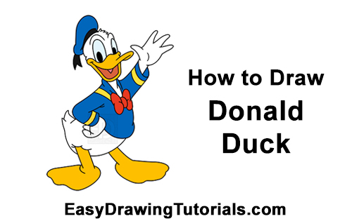How to Draw Donald Duck Full Body