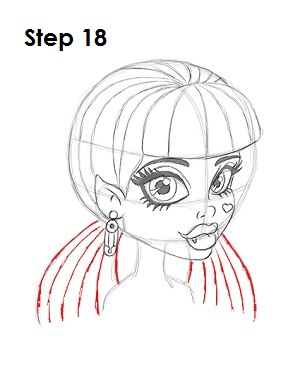 How to Draw Draculaura Step 18