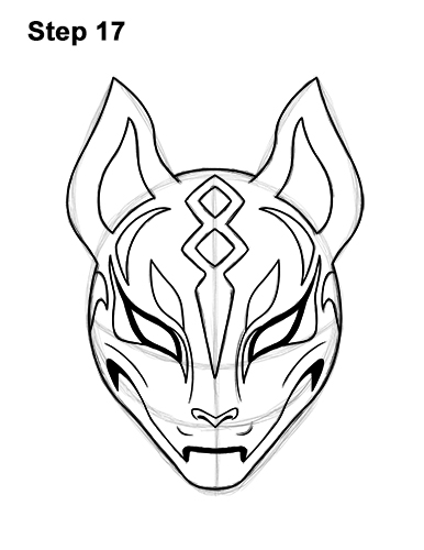 How To Draw Drift Mask Fortnite With Step By Step Pictures