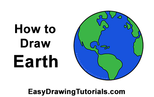 How to Draw Cartoon Planet Earth World Globe Clipart