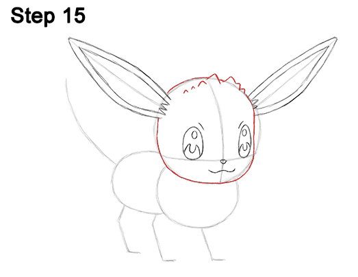 Draw Eevee Pokemon 15
