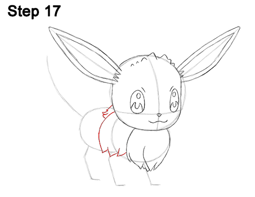 Draw Eevee Pokemon 17