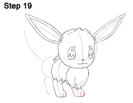 Draw Eevee Pokemon 19